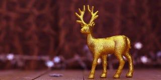 圣诞节与光的驯鹿背景 库存图片