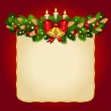 圣诞节与冷杉枝杈的传染媒介背景 皇族释放例证