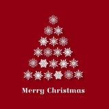 圣诞节与圣诞树的贺卡 库存图片