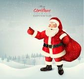 圣诞节与圣诞老人的假日背景 图库摄影