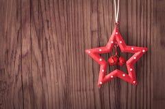 圣诞节与拷贝空间的星装饰 免版税库存图片