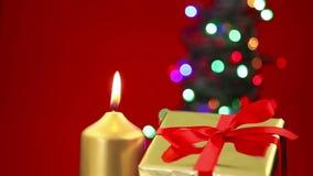 圣诞节与拷贝空间的背景场面 影视素材