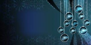 圣诞节与明亮的梯度和迷离作用的球背景 免版税库存图片