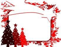 圣诞节与树和流星的贺卡 库存照片