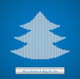圣诞节与树的被编织的背景 图库摄影