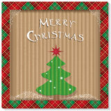 圣诞节与树的eco背景 库存照片