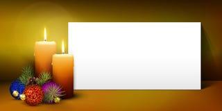 圣诞节与白皮书盘区的贺卡模板 免版税库存图片
