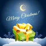圣诞节与礼物的邀请卡片 库存图片
