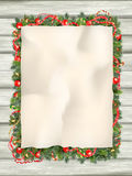 圣诞节与纸的杉树 10 eps 库存图片
