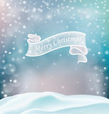 圣诞节与装饰元素的贺卡 免版税库存图片