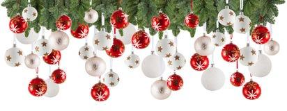 圣诞节与装饰品的诗歌选背景,圣诞节中看不中用的物品 免版税库存图片