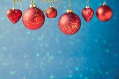 圣诞节与装饰的假日背景 库存图片