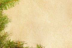 圣诞节与装饰的杉树 免版税库存照片