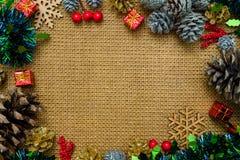 圣诞节与装饰的背景t的静物画和空间 库存图片