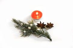 圣诞节与装饰2014年11月14日的桂香茴香 免版税库存图片