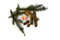圣诞节与装饰2014年11月14日的桂香茴香 图库摄影