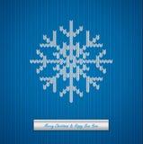 圣诞节与雪花的被编织的背景 免版税库存照片
