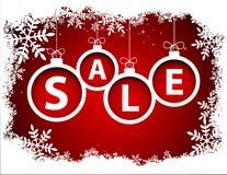 圣诞节与雪花的销售球 库存照片