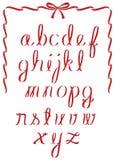 圣诞节丝带字母表 免版税库存图片