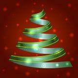 圣诞节丝带树的例证 免版税库存照片