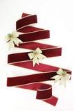 圣诞节丝带结构树 库存照片