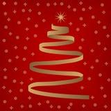圣诞节丝带结构树 图库摄影