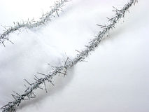圣诞节丝带银白色 免版税图库摄影