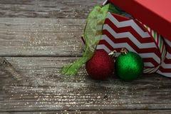 圣诞节丝带 免版税库存照片