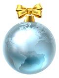 圣诞节中看不中用的物品地球世界地球 库存照片