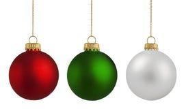 圣诞节中看不中用的物品球 免版税库存照片