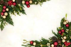 圣诞节中看不中用的物品边界 库存照片