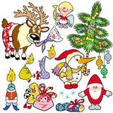 圣诞节为子项设置了 库存图片