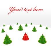 圣诞节主要结构树 免版税库存照片