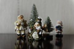 圣诞节主题的小组背景例证 免版税库存图片