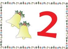 圣诞节主题的白色背景信件 免版税库存照片