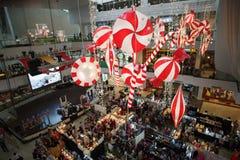 圣诞节义卖市场 库存图片