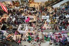 圣诞节义卖市场 免版税库存照片