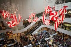 圣诞节义卖市场 免版税库存图片