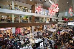圣诞节义卖市场 免版税图库摄影