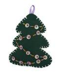 圣诞节云杉的符号传统向量 免版税库存图片
