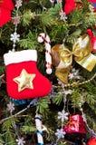 圣诞节云杉的符号传统向量 免版税库存照片