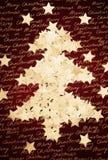 圣诞节五彩纸屑做形状的星形结构树 免版税库存图片