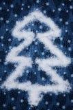 圣诞节五彩纸屑做形状的星形结构树 库存图片