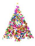 圣诞节五彩纸屑结构树 库存图片