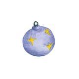 圣诞节五颜六色球垂悬 免版税图库摄影