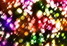 圣诞节五颜六色的光 免版税库存图片
