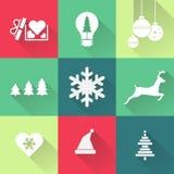 圣诞节五颜六色的图标 钞票 蓝色云彩图象彩虹天空向量 向量例证