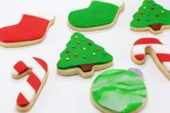 圣诞节五颜六色的曲奇饼 免版税库存图片