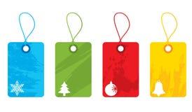 圣诞节五颜六色的标签 免版税库存图片