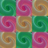 圣诞节五颜六色的模式漩涡 库存图片
